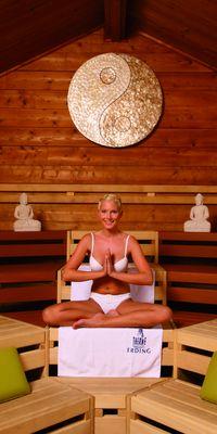 Entspannung in der Meditationssauna. © Therme Erding